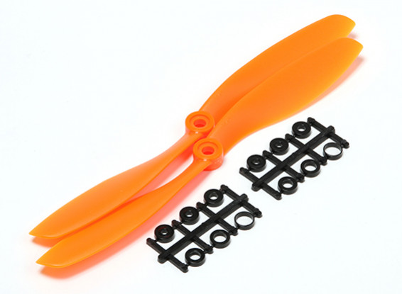 Turnigy slowfly Hélice 8x4.5 Orange (CCW) (2pcs)