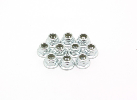 M4 Bride Nylock Nut (10pcs) - BSR Racing BZ-222 1/10 2WD Racing Buggy