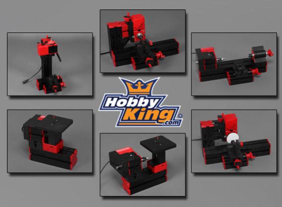 HobbyKing 6 en 1 Machine Tool - Ponçage / Tournage / Tournage Sciage / Bois / Forage / Fraisage