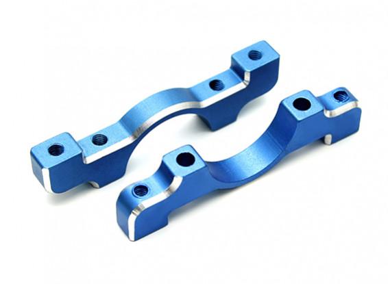 Bleu anodisé CNC en aluminium Tube Clamp 16mm Diamètre