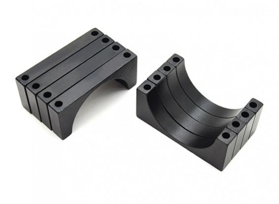 Noir anodisé CNC Aluminium 5mm Tube Clamp 28mm Diamètre