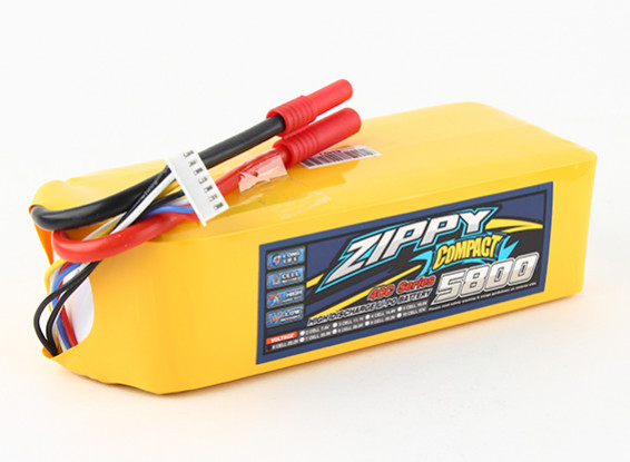 ZIPPY Compact 5800mAh 6s 40c Lipo pack.