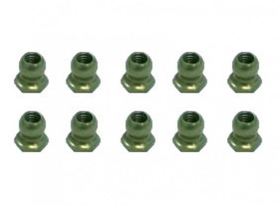 7075 Aluminium Teflon 4.8mm Coated boule Hex Stud L = 4 (10pcs) - 3Racing SAKURA FF 2014