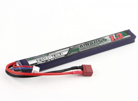Turnigy nano-tech 1300mAh 2S 25 ~ 50C Lipo AIRSOFT Pack (connecteur en T)