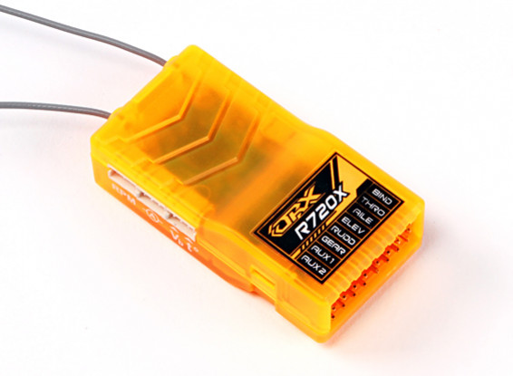 OrangeRx R720X 7Ch 2.4GHz DSM2 / DSMX CompFullRangeRx w / SatDivAnt, F / Safe & CPPM