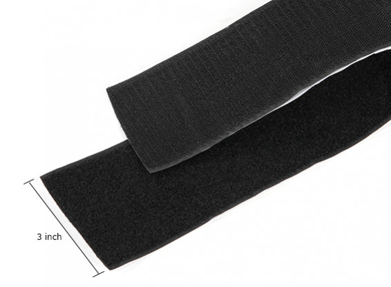 Polyester Hook and Loop Peel-n-stick (Black) (1 Meter)