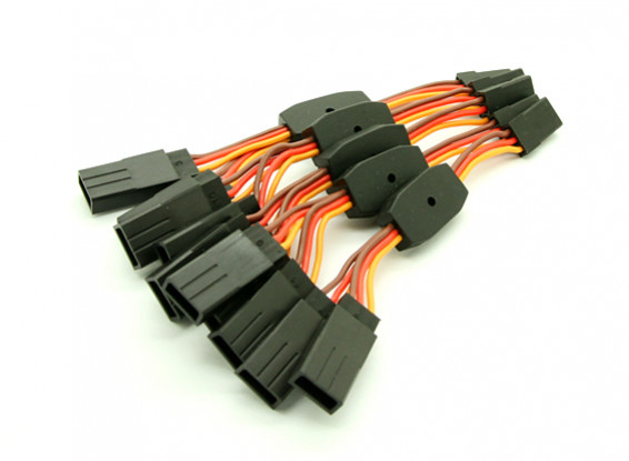 6cm JR 26AWG 2F Straight to 1 MES 5pcs Lead