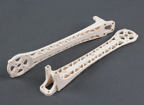 Upswept Upgrade Arms pour DJI Flamewheel style Multirotors V500 / H550 (Blanc) (2pcs)