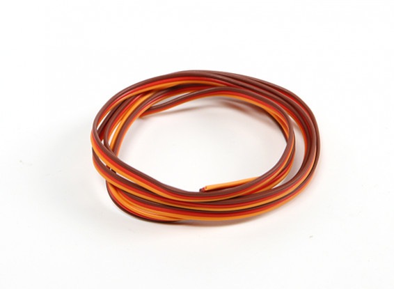 26AWG Servo Fil 1mtr (Rouge / Brun / Orange)