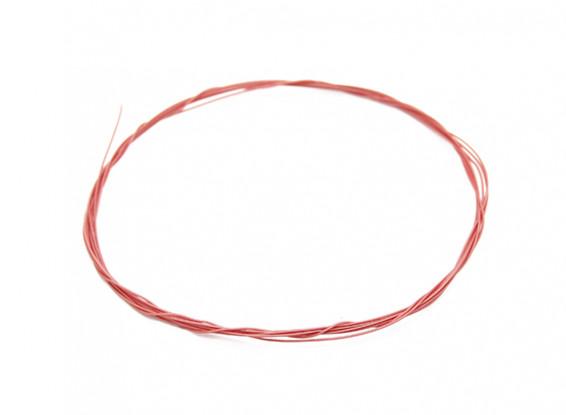 Turnigy haute qualité 36AWG téflon Fil revêtu 1m (Rouge)