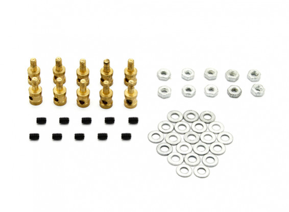 Brass Linkage Stopper Pour 1,7 mm tringles (10pcs)