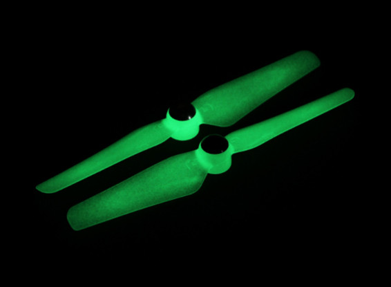 5 x 3.2 Self serrage Hélice pour Multi-Rotor CW et CCW Rotation (1 paire) Glow In The Dark