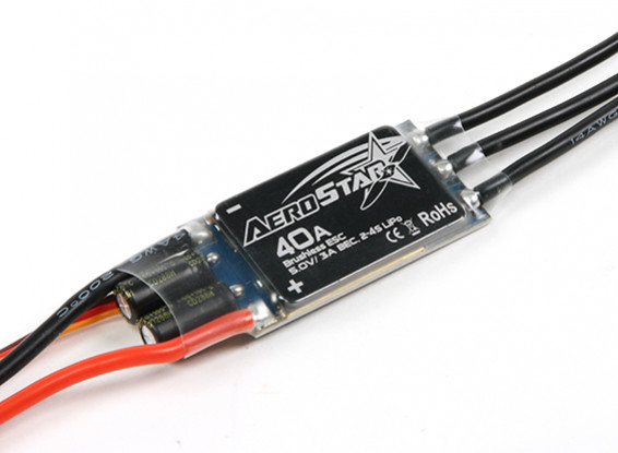 Aerostar 40A électronique Speed Controller avec 3A BEC (2 ~ 4S)