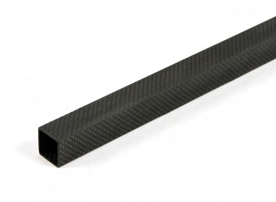 Tube en fibre de carbone carré 20 x 20 x 600mm
