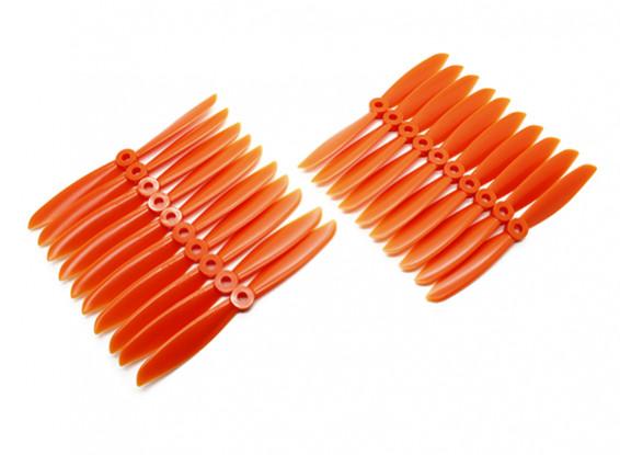 Gemfan Multirotor ABS Bulk Pack 6x4.5 Orange (CW / CCW) (10 paires)