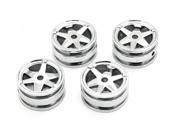 6 Spokes Rim (4pcs) - Kit OH35P01 1/35 Rock Crawler