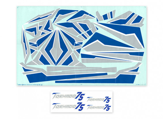 H-King Tornado 75 EDF Jet - Remplacement Decal Set