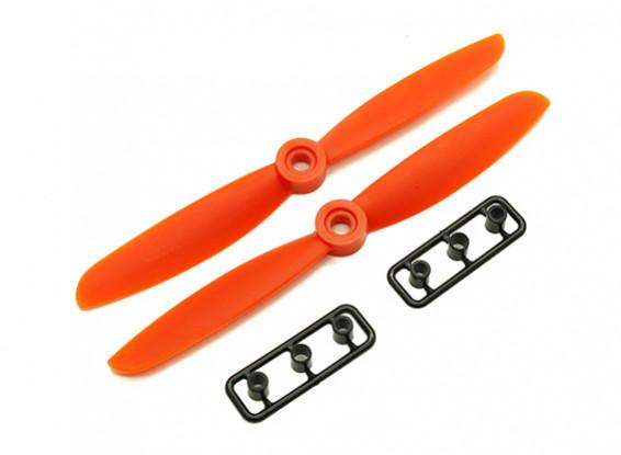Gemfan 5045 GRP / Nylon Hélices CW / CCW Set (Orange) 5 x 4.5
