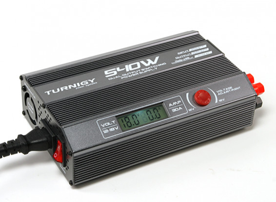 TURNIGY 540W Dual Output Switching Power Supply (UK Plug)