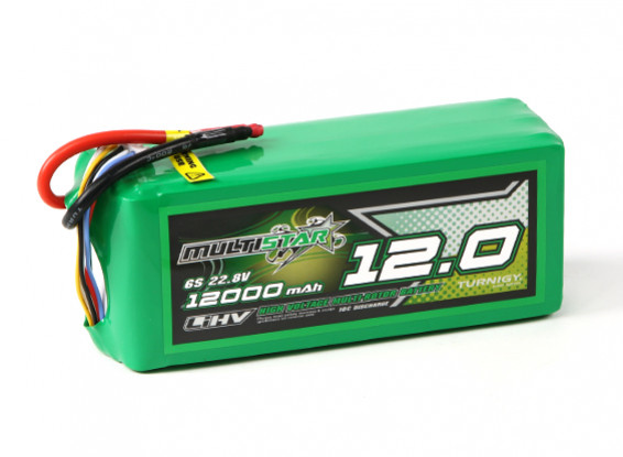 MultiStar LiHV High Capacity 12000mAh 6S 10C Multi-Rotor Lipo Pack