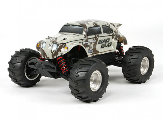 Basher 1/16 4WD Mini Monster Truck V2 - Bad Bug (RTR)