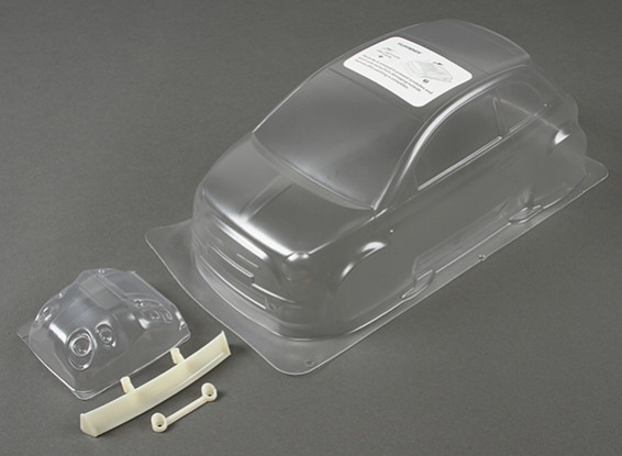 01:10 Fiat 500 Effacer Body Shell (pour châssis M)