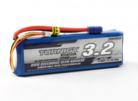 Turnigy 3200mAh 3S 30C LiPoly pack w / EC3 (E-flite de EFLB32003S30 Compatible)