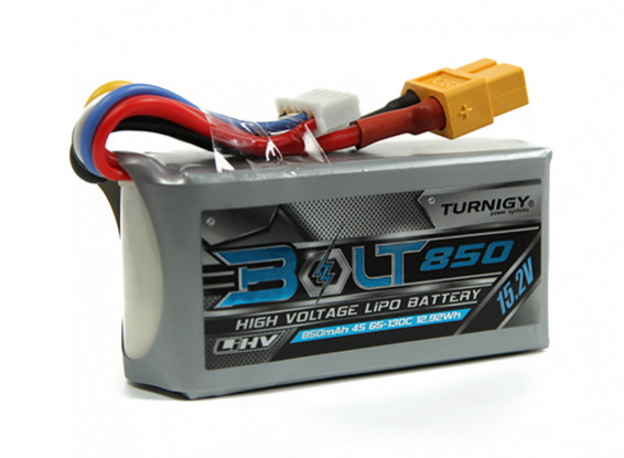 Turnigy Bolt 850mAh 4S 15.2V 65 ~ 130C High Voltage Lipoly Pack (LiHV)