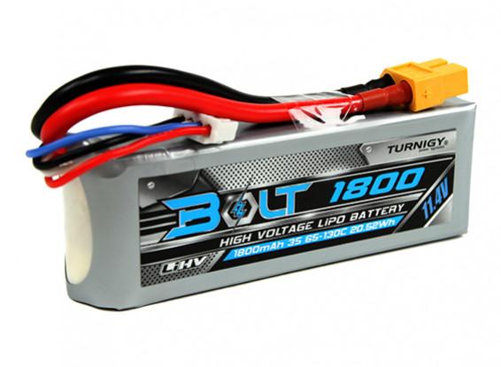 Turnigy Bolt 1800mAh 3S 11.4V 65 ~ 130C High Voltage Lipoly Pack (LiHV)