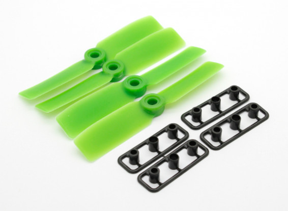 GemFan Bull Nose 3545 GRP / Nylon Hélices CW / CCW Set Green (2 paires)