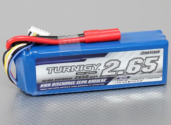 Turnigy 2650mAh 6S 30C Lipo Paquet