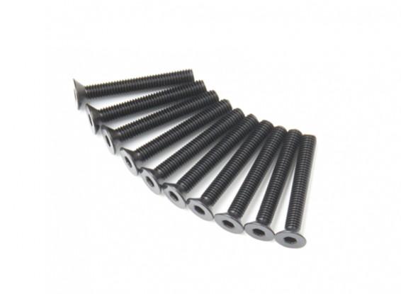 Métal Flat Head Machine Vis hexagonale M3x22-10pcs / set