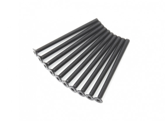 Métal Flat Head Machine Vis hexagonale M3x45-10pcs / set