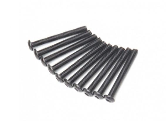 Rond en métal Machine Head Vis hexagonale M3x26-10pcs / set