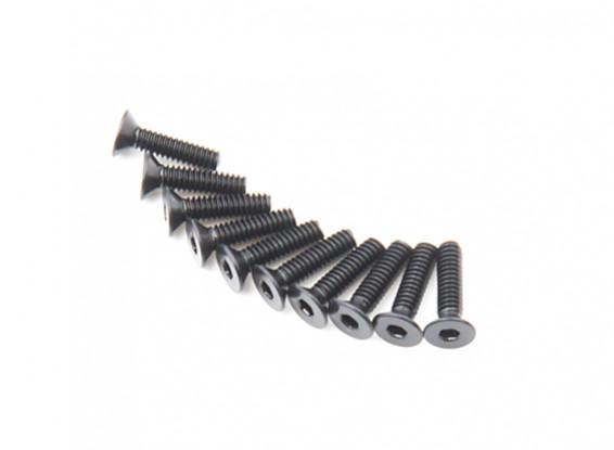 Métal Flat Head Machine Vis hexagonale M2x8-10pcs / set