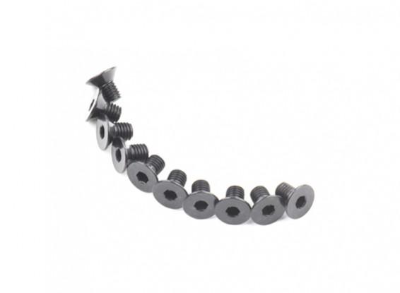 Métal Flat Head Machine Vis hexagonale M5x8-10pcs / set