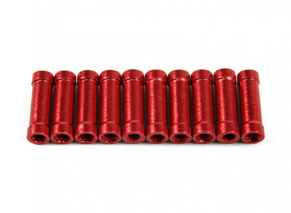 Jumper 218 Pro CNC en aluminium Spacers (rouge) (10pcs)