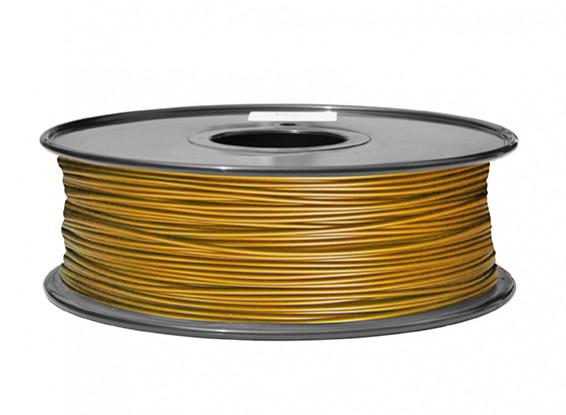 HobbyKing 3D Filament Imprimante 1.75mm PLA 1KG Spool (Gold Metallic)