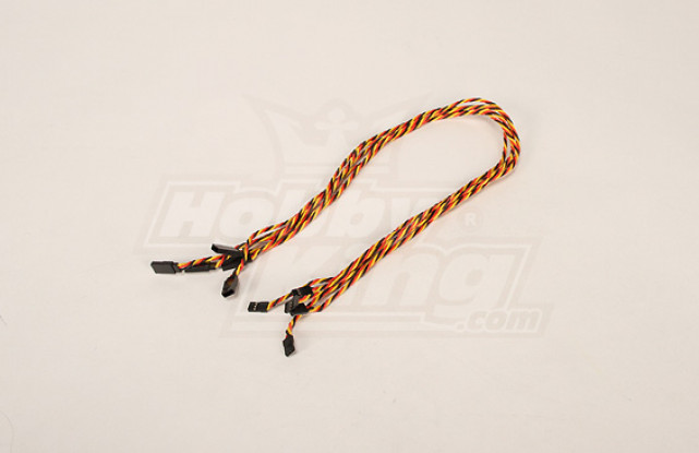 Twisted 60CM Servo Extention Lead (JR) 22AWG (5pcs / bag)