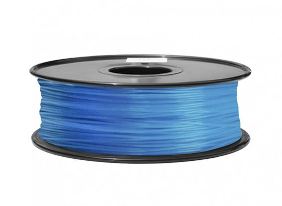 HobbyKing 3D Filament imprimante 1.75mm ABS 1KG Spool (Glow in the Dark - Bleu)