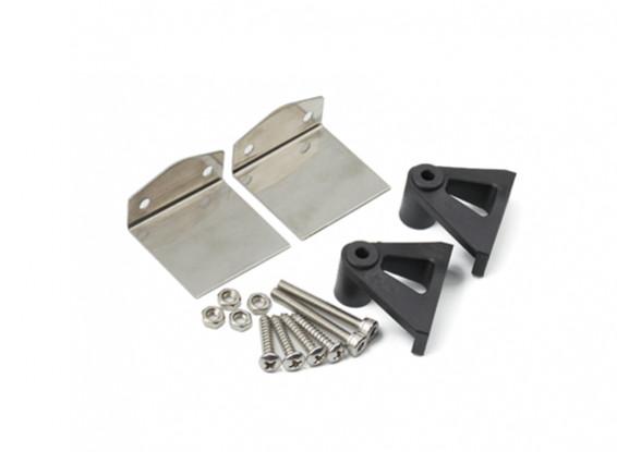 acier inoxydable flaps et jeu de support en plastique