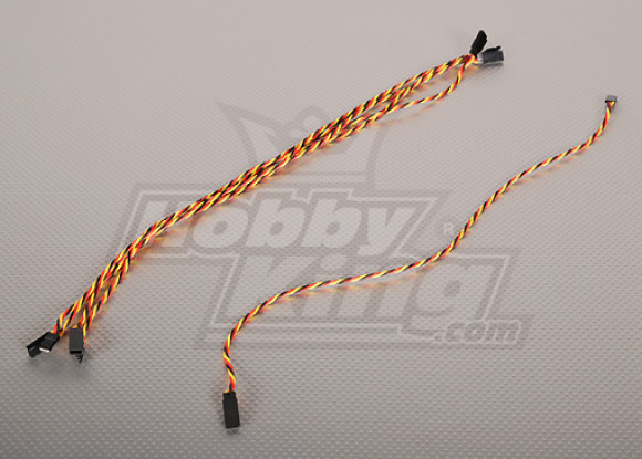 Twisted 45CM Servo Extention Lead (JR) 22AWG (5pcs / bag)