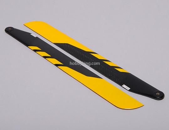 325mm en fibre de carbone principal Lames (jaune)