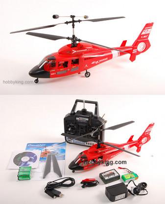 Dauphin Co-Ax RTF hélicoptère 72Mhz