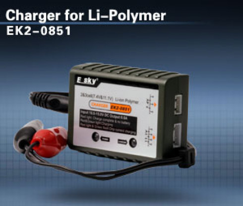 E-Sky 2-3S Solde Chargeur (LiPoly)