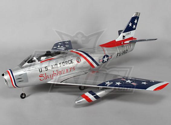 F-86 Skyblazer EDF Jet 70mm Retracts électriques, Flaps, aérofrein, l'OEB (PNF)