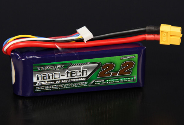 Turnigy nano-tech 2200mah 4S 25 ~ 50C Lipo Paquet