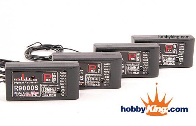 MKS 9Ch PPM Synthétisé / PCM Receiver (36MHz)