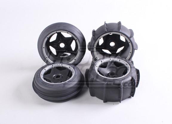 Roue de sable et de pneus Set (4pcs / set) - 260 et 260S
