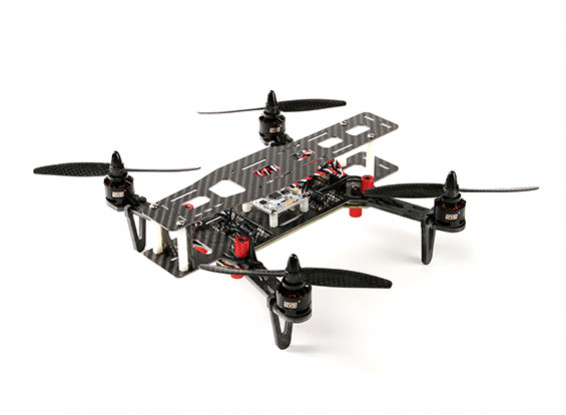 SCRATCH / DENT - DYS 250 Carbon Fibre pliant Quadcopter Avec étui de rangement (PNF)
